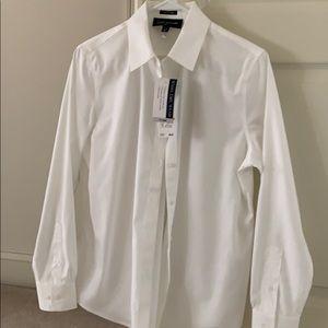 Jones New York Signature white button down shirt